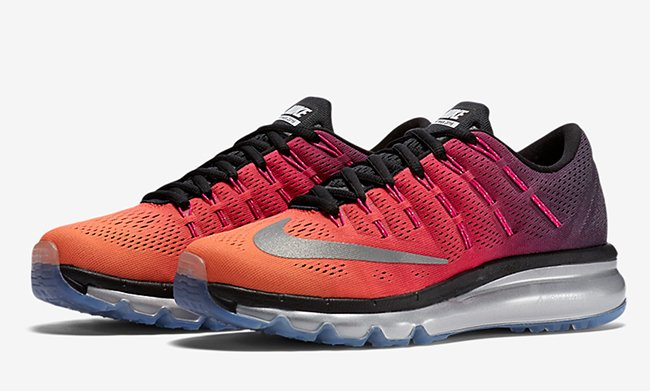 new product ed922 d3aee Nike Air Max 2016 Pink Orange Black Silver