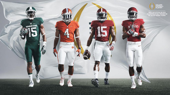 Nike College Playoff 2015 Uniforms