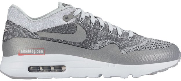 Nike Flyknit Air Max 1 Grey White