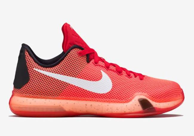 Nike Kobe 10 Red Crimson Lava Release Date   SneakerFiles