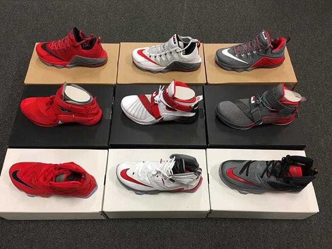 2a84ff40951 Nike LeBron Ohio State Buckeyes Sneakers