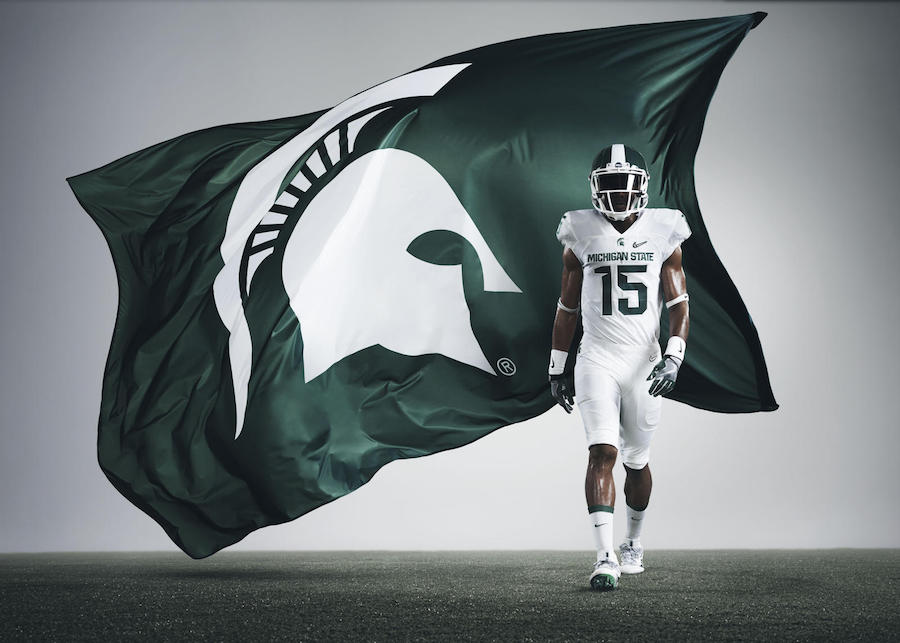 Nike Michigan State Spartans Playoff 2015 Uniforms