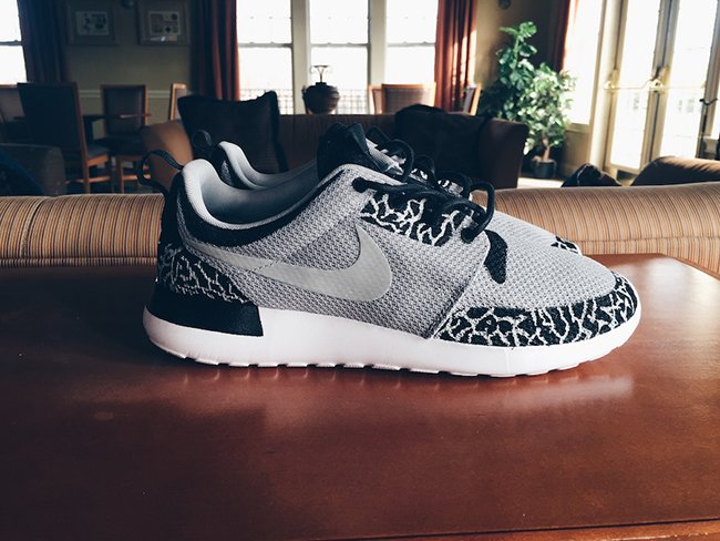 custom jordan roshe runs