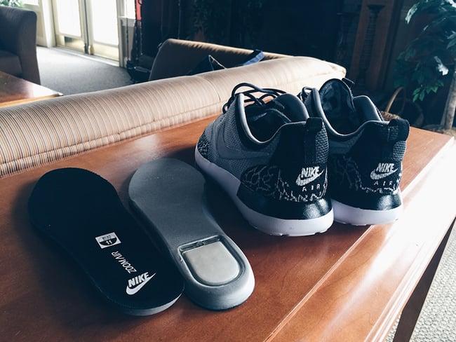 69d0faedf2a6 Nike Roshe Run Wolf Grey Jordan 3 Custom
