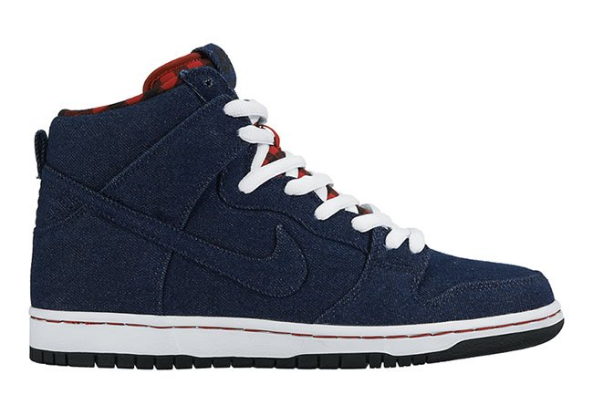 Nike SB Dunk High Denim Flannel  dd28c9d17
