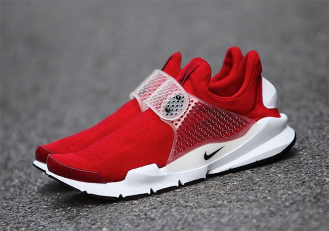 Nike Sock Dart Red White 2016
