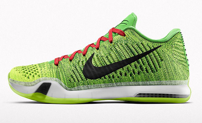 NikeID Kobe 10 Elite Low Grinch Christmas