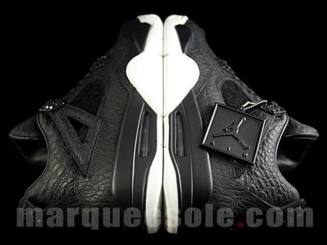 Premium Air Jordan 4 Retro Black