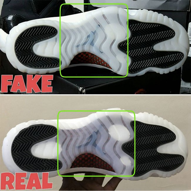 brand new 08417 98a5a Air Jordan 11 72 10 Legit Real Fake | SneakerFiles