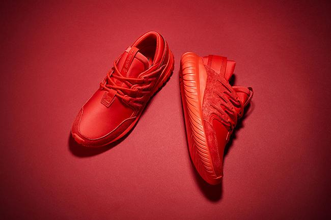 Red adidas Tubular Nova