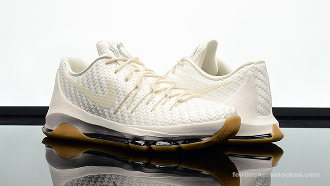 new product 03452 6f160 Release Nike KD 8 White Woven