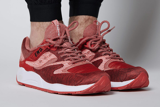 END Saucony Grid 9000 Red Noise  07cd3d66a66