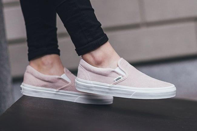Vans Slip On Pink Croc