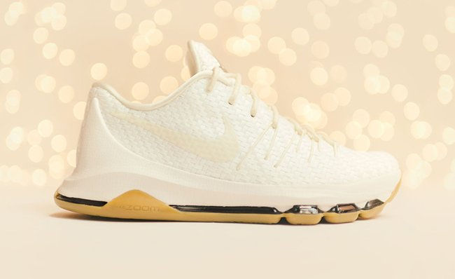 White Woven Nike KD 8 EXT