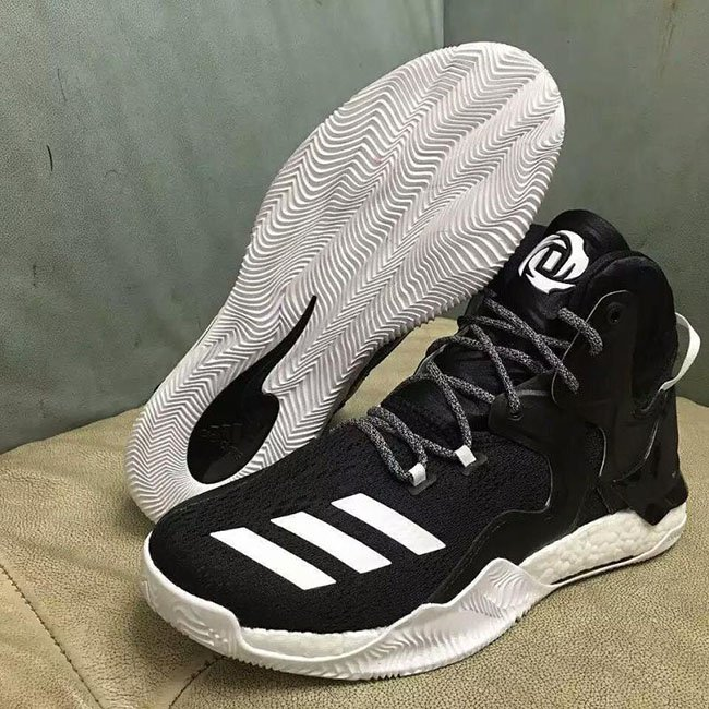 buy popular f24cb 745d7 adidas D Rose 7 Black White