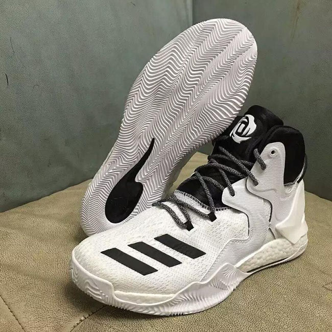 san francisco 9eff5 fc797 adidas D Rose 7 White Black