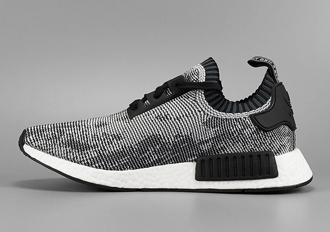 By1911 adidas NMD R1 Primeknit Shoes Oreo Glitch Camo