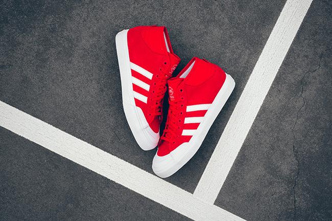 adidas Skateboarding Matchcourt Mid Scarlet Red