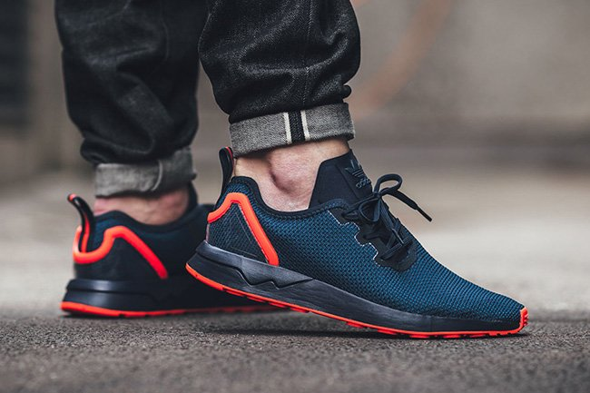 adidas ZX Flux ADV Asymmetrical Collegiate Navy Red 5f070ea13