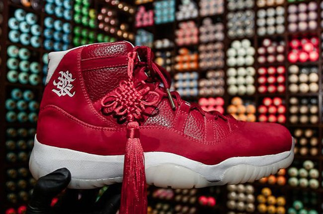 new product a6094 ea601 ... coupon code air jordan 11 chinese new year custom 9c7ae 873a9