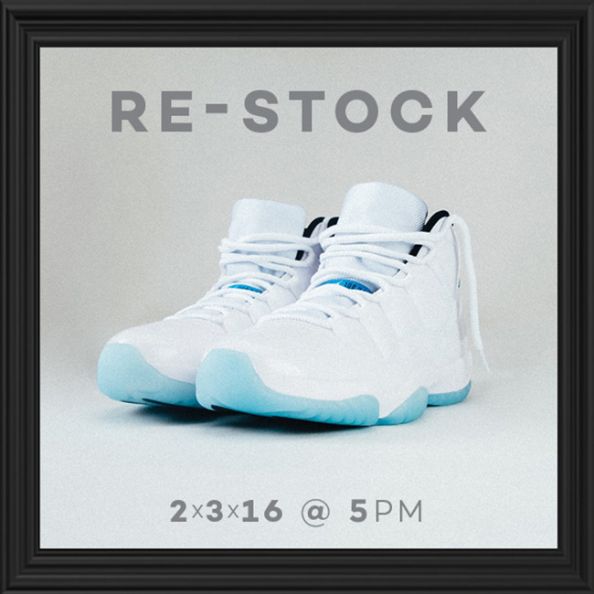 Air Jordan 11 Legend Blue Restock Shiekh Shoes