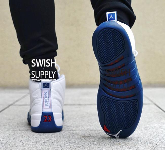 d8ddf657f41 Air Jordan 12 French Blue On Feet