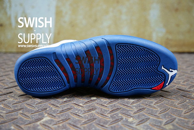 Air Jordan 12 French Blue On Feet