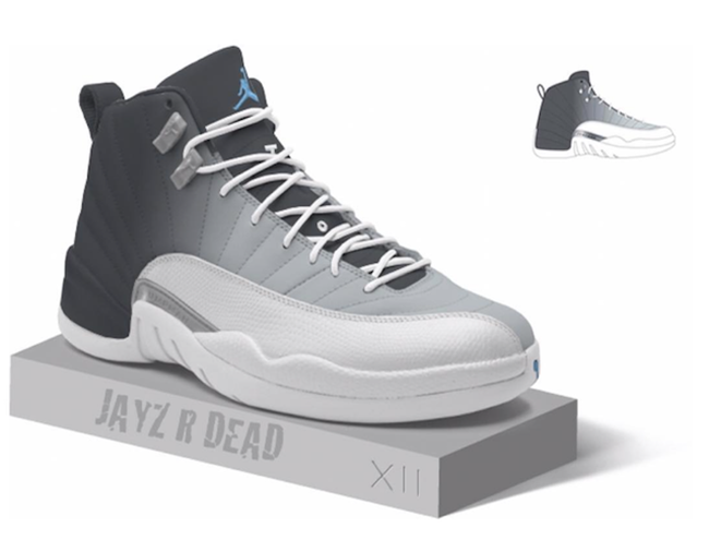 Air Jordan 12 Grey University Blue