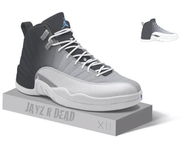 633729656952 Air Jordan 12 Grey University Blue Release Date