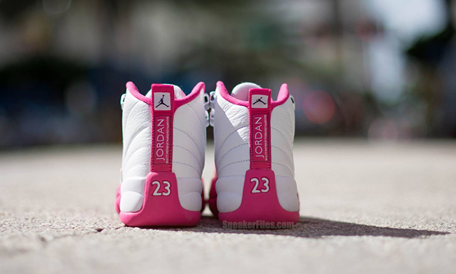 Air Jordan 12 GS Pink White