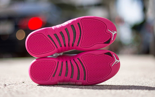 Air Jordan 12 GS Pink White