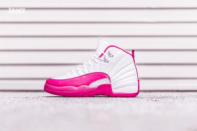 huge discount 838ab fd385 Air Jordan 12 GS White Vivid Pink | SneakerFiles