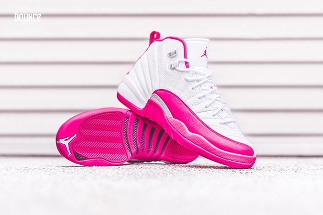 Air Jordan 12 Pink White Valentines Day
