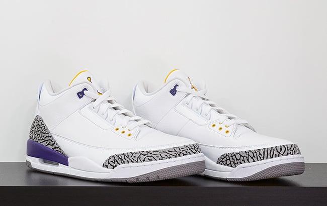 Air Jordan 3 Kobe Bryant White Purple Gold