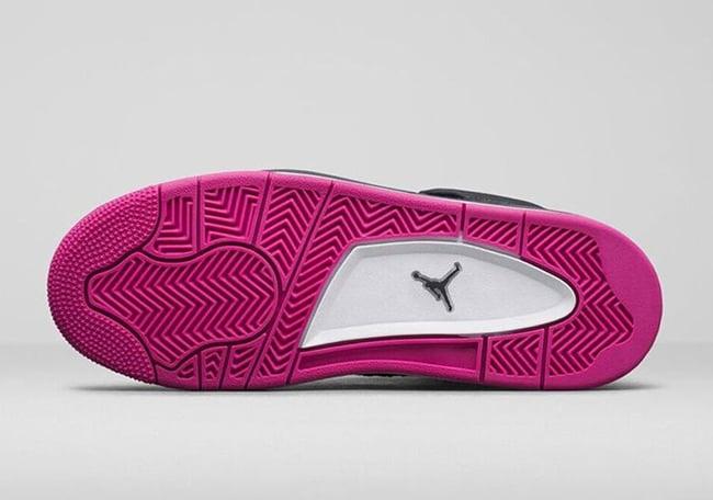 Air Jordan 4 Girls Denim Vivid Pink