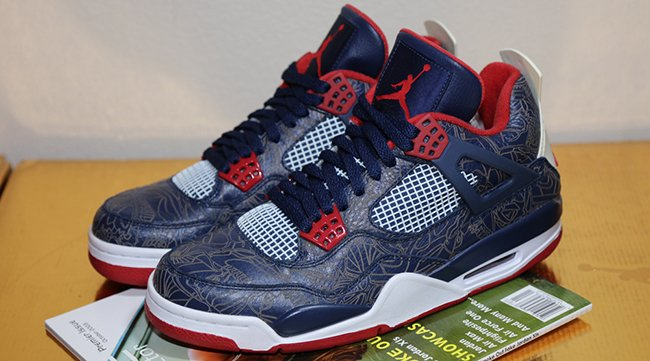 low priced 4a2cf 2e229 Air Jordan 4 Melo Olympic Laser 2008