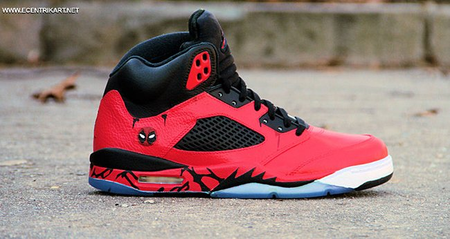 e7575c8cf39ed6 Air Jordan 5 Deadpool Custom