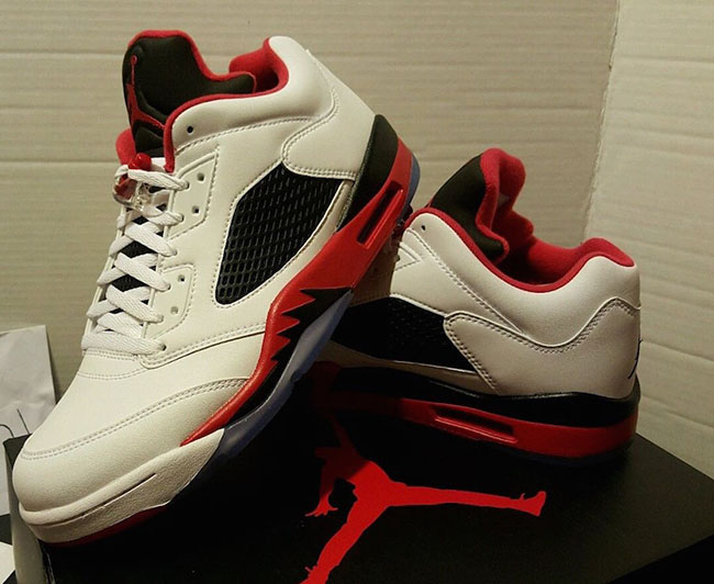 super popular 221ca e0e01 Air Jordan 5 Low Fire Red 2016 | SneakerFiles