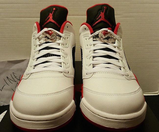 Air Jordan 5 Low Fire Red White Black