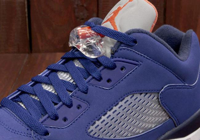 Air Jordan 5 Low Knicks Blue Orange