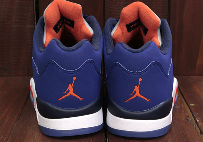 Air Jordan 5 Low Knicks Blue Orange