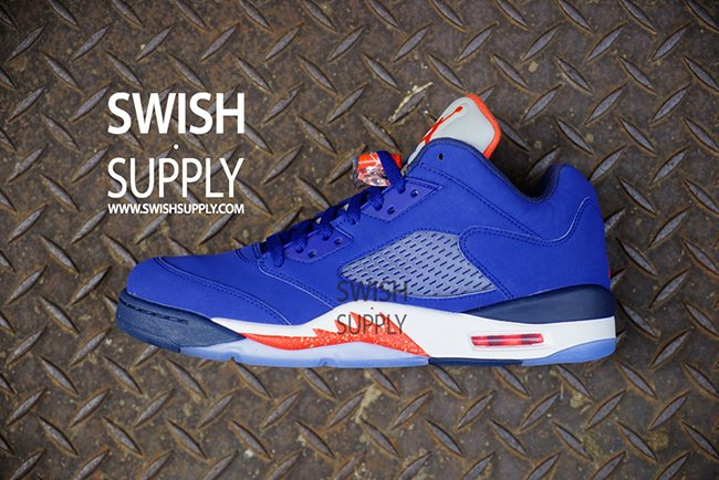 Air Jordan 5 Low Knicks On Feet