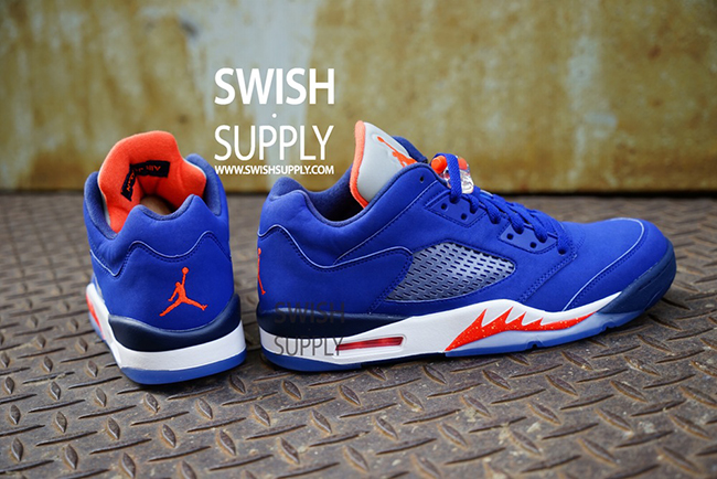 Air Jordan 5 Low Knicks On Feet