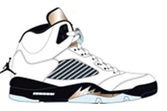 Air Jordan 5 Olympic White Black Gold 2016