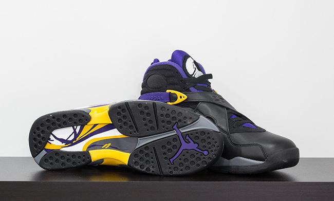 Air Jordan 8 Kobe Bryant Black Purple Gold