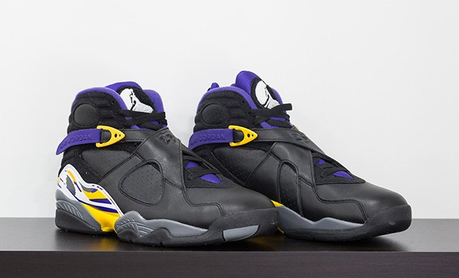 Air Jordan 8 Kobe Bryant Black Purple Gold