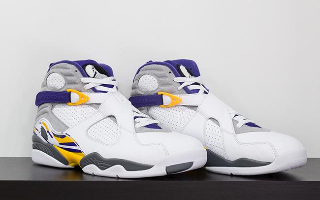 Air Jordan 8 Kobe Bryant White Purple Gold