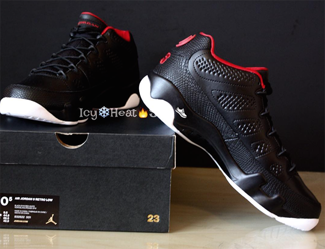 Air Jordan 9 Low Black Red