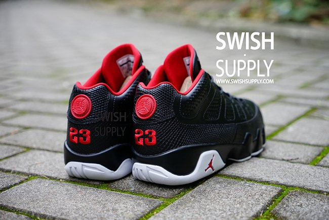 Air Jordan 9 Low Black Red White