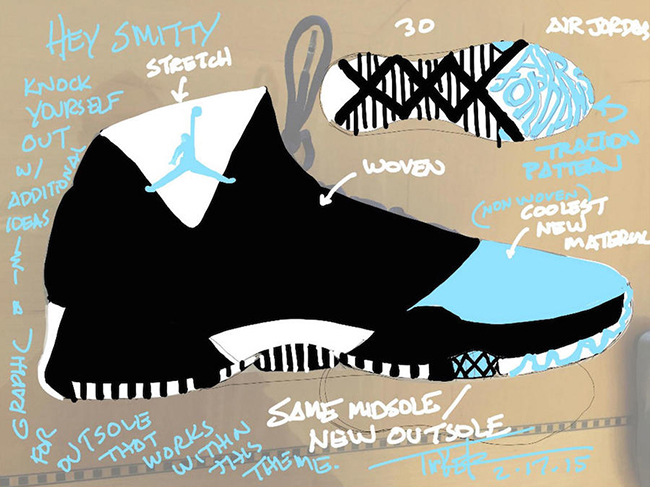 Air Jordan XXX Tinker Sketch Design